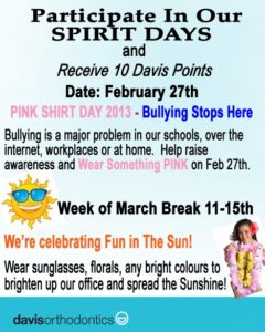 Participate In Our SPIRIT DAYS!