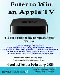 Apple TV Contest Sign