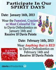 JanFeb 2013 Spirit Days