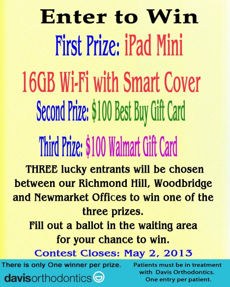 Enter to Win one of 3 prizes!