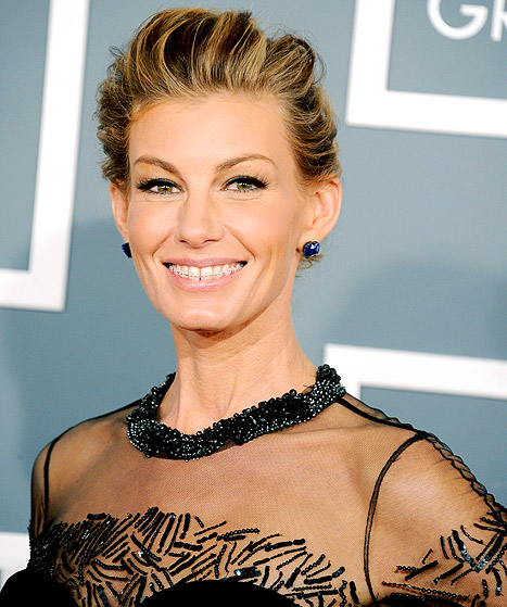 Faith Hill Wearing Clear Braces