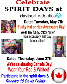 Spirit Days at Davis Orthodontics!