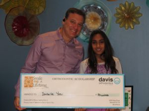 The team at Davis Orthodontics would like to congratulate Isabelle as one of our Smile For A Lifetime recipients! The doctors here are thrilled to be able to provide you with this award!