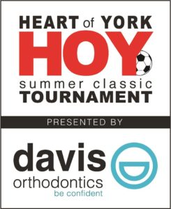 Davis Orthodontics, proud sponsor of this year's Heart of York Soccer Tournament. We look forward to seeing you at this great, event, Aug. 6th & 7th.